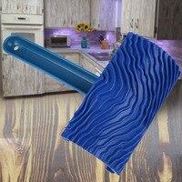 Mango empaístico  herramienta de pared para el hogar  granulado  duradero  DIY  goma  patrón de madera  decoración  pincel de imitación  rodillo de pintura artística Juegos de herramientas de pintura     -
