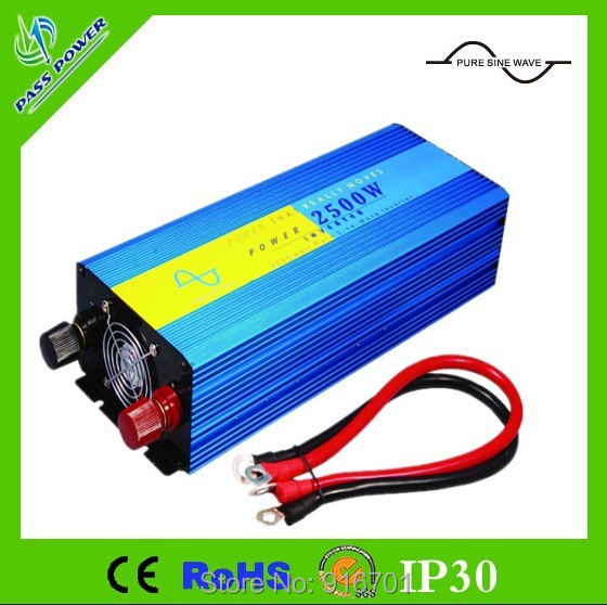 цена на 2500W/5000W Pure Sine Wave Power Inverter DC 12V 24V 48V to AC 230v solar/wind/car/battery invertor 2500W inverter solare ibrido