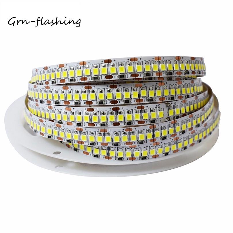 Super Brightness 1M 2M 3M 4M 5M LED Strip Light Tape 2835 240LEDs/M DC12V 24V Flexible LED Ribbon String Light Warm White /White