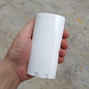 Image 3 - 10pcs 2.5 Oz 75ml דאודורנט מיכל ריק פלסטיק לבן טוויסט עד למילוי צינורות עבור DIY דאודורנט מקל העקב מזור קוסמטי