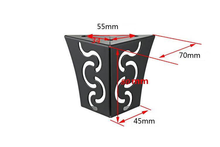 4pcs Carving Metal Furniture Legs Sofa Foot Hairpin Leg Pad Protection For Furniture Cabinet Table Leg Cover Hardware Metal Leg