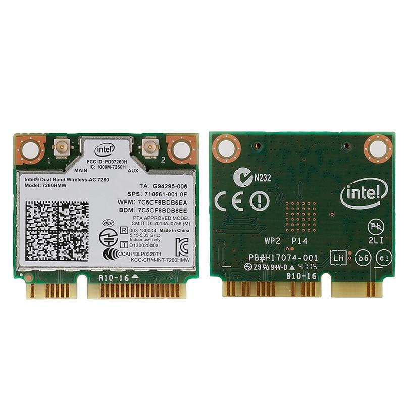 Banda doble inalámbrica-ac 7260HMW Mini PCI-E BT4.0 tarjeta Intel para HP SPS 710661-001