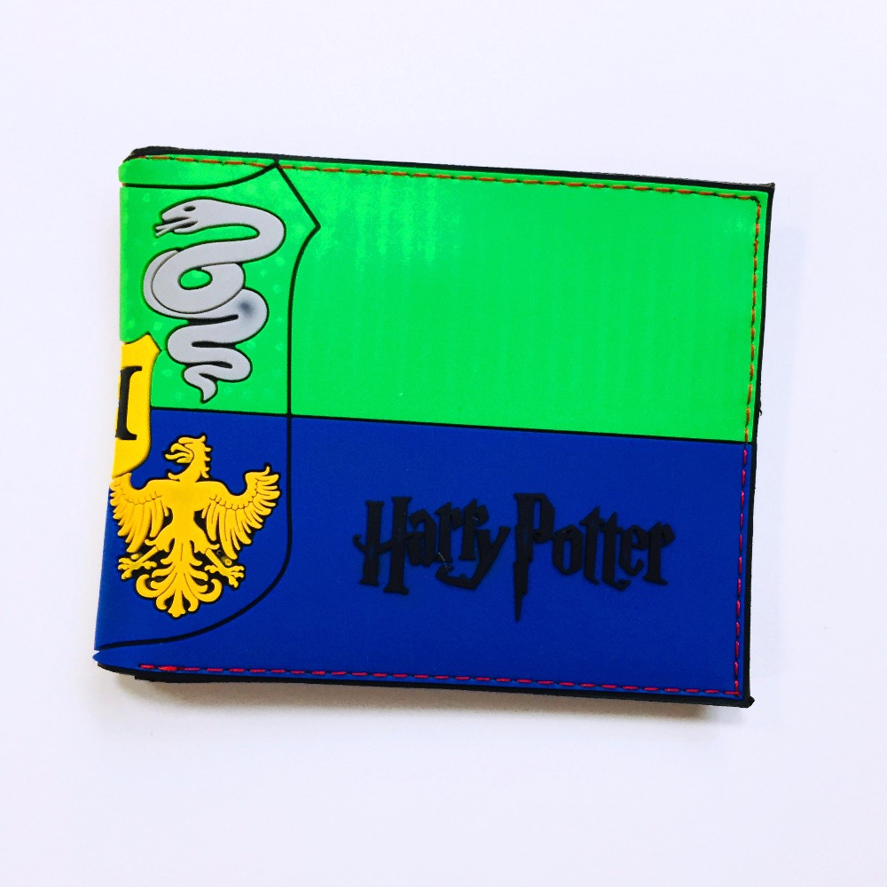 2018 High Quality PVC Harry Potter Wallet Hogwarts Colleges HUFFLEPUFF RAVENCLAW Purse With Card Holder Wallet W995Q