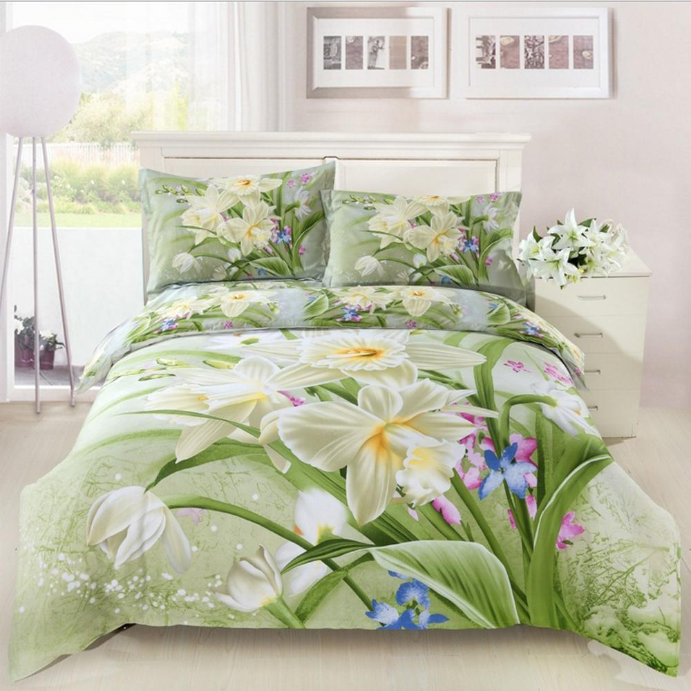 4 Piecesset Bedding Sets Hign Quality 3d Printes Linens Bed Cover 100