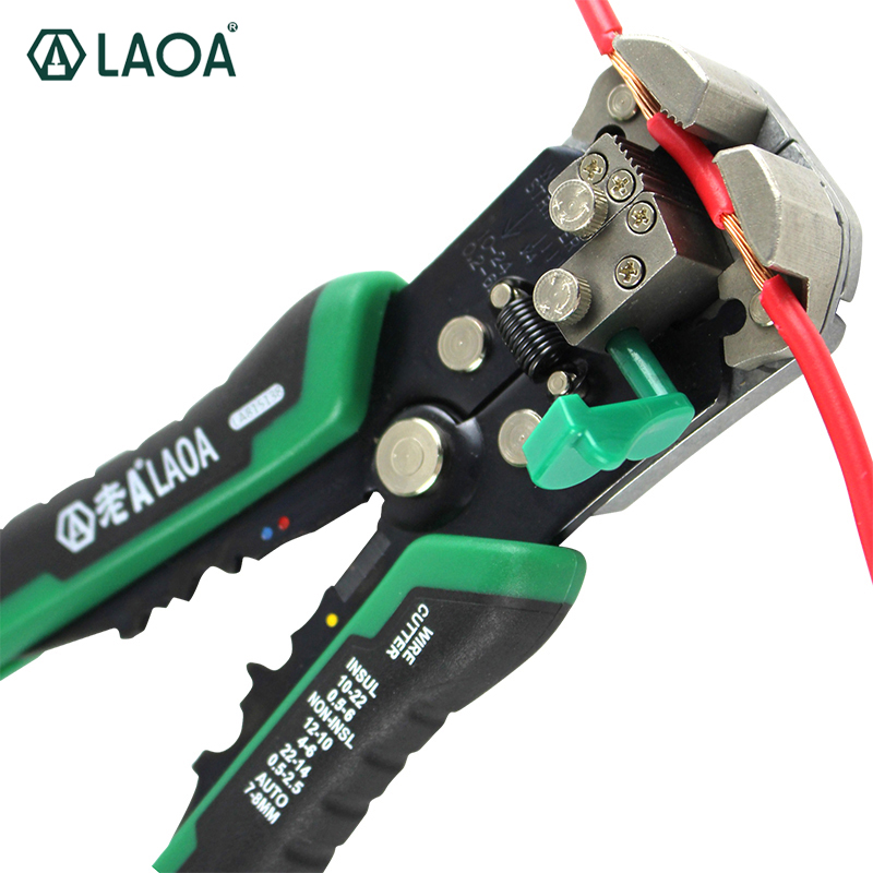 LAOA Automatic Wire Stripper Tools Professional Electrical Cable stripping Tools For Electrician Crimpping Made in Taiwan fasen tools cx119 cable knife multifunctional wire stripper for stripping the cable insulation layer of 35 300mm