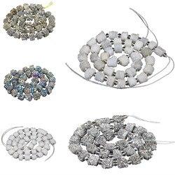 Роскошное качество натуральный драгоценный камень Друза хрустальные бусины нитка ювелирных изделий фурнитура для самостоятельного изгот...