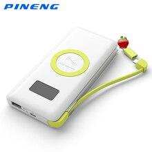 Pineng 10000 мАч быстро Беспроводной зарядка внешнего Батарея Портативный pover Bank встроенный свет с QC3.0 Стандартный для Elephone S8