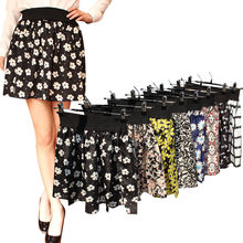 Fashion 1 Pc Women Summer skirt one size Vintage Mini Chiffon Print Pleated High Waist Skirts Short Skirt(China)