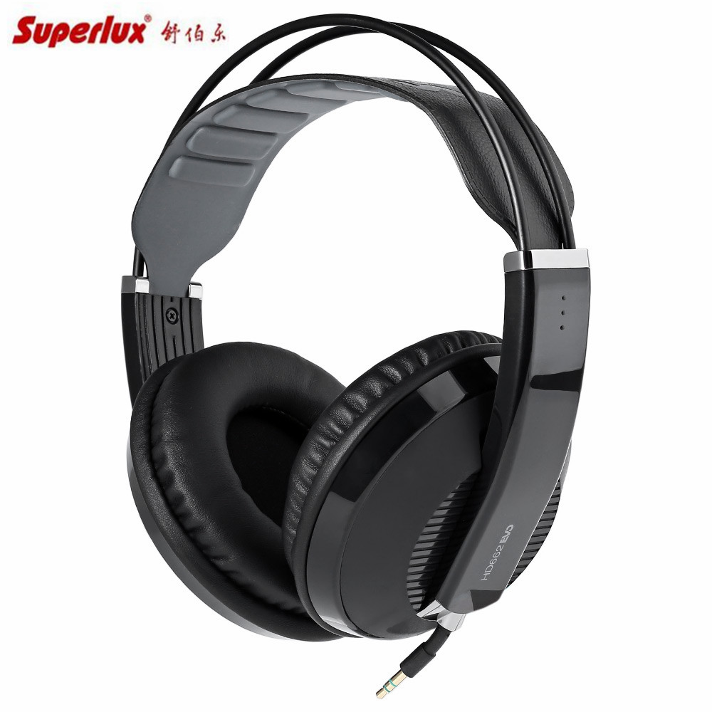 Superlux Headphones HD662EVO Closedback Monitoring Headset Circumaural Design Self-adjusting Headband gaming headsets superlux hd 562 omnibearing headphones noise canceling monitoring rotatable