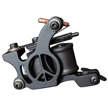 Hot Sales Wire Cutting 10 Wrap Coils Tattoo Machine For Liner And Shader Black Color Iron Tattoo Supplies