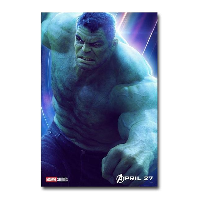 Плакат гобелен Халк Мстители:Бесконечная война материал Шелк