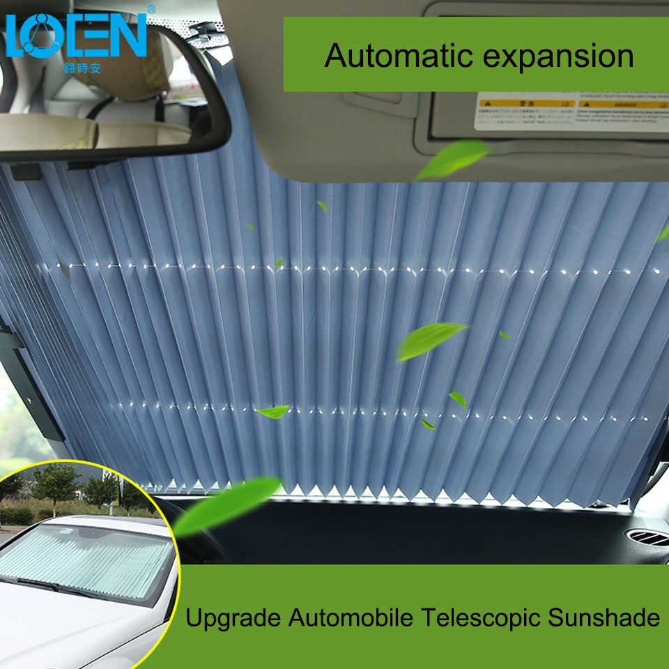 46/65/70 x 155CM Car sunshade Retractable windshield Block sun shade cover Front/Rear window foil Curtain for Solar UV proect modified car trunk cover material curtain separated block for great wall c20r