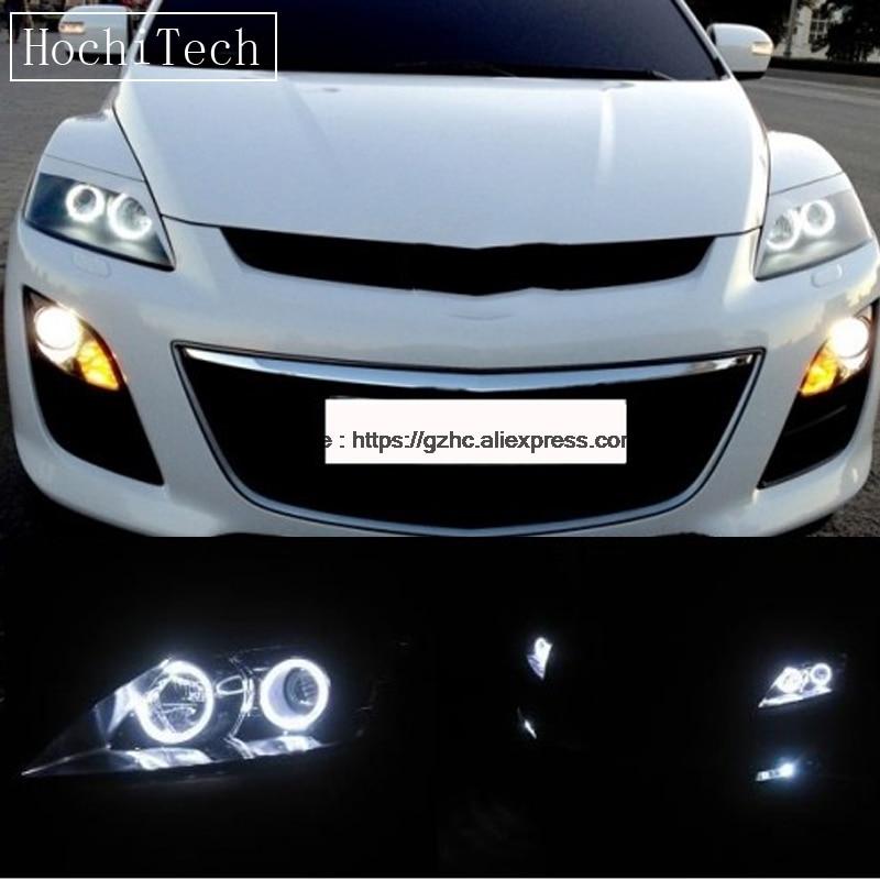 HochiTech For Mazda CX-7 2006-2012 Ultra Bright Day Light DRL CCFL Angel Eyes Demon Eyes Kit Warm White Halo Ring Car-styling hochitech white 6000k ccfl headlight halo angel demon eyes kit angel eyes light for ford mondeo mk3 2001 02 03 04 2005 2006 2007