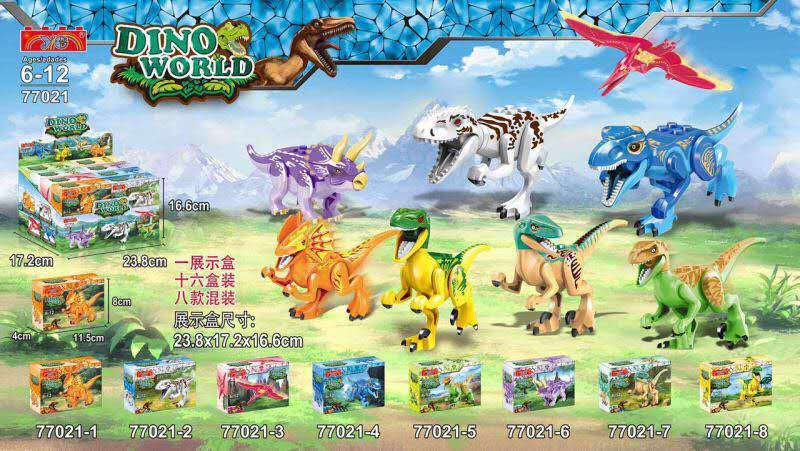 YE 77021 Building Blocks Super Heroes Avengers Dino World Dinosaur Model Bricks Assemble font b Toys