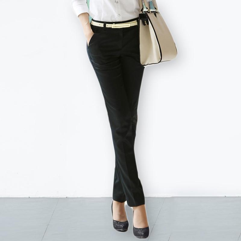 S-4XL Big Size Womens OL Pencil Pants 201 New Arrival Elegant Ladies Office Work Pants Elastic Casual Cotton Trousers Women