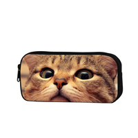 Cool Cat Pencil Cases For Girls Animal Zippered Pencil Bag For Boys School Cute Designer Cosmetic