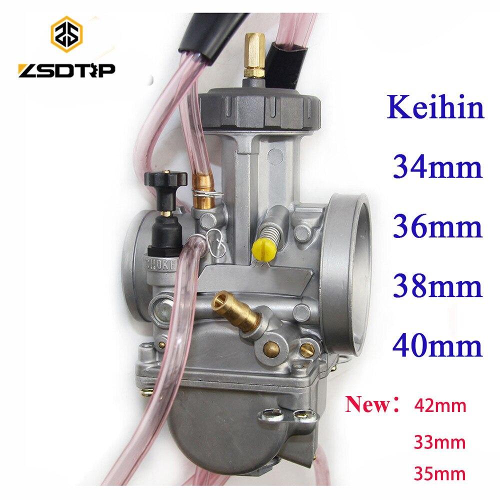 Haute qualité ZSDTRP 34 36 38 40 42mm pwk keihin carburateur carburador universel 2 T 4 T moteur moto scooter UTV ATV