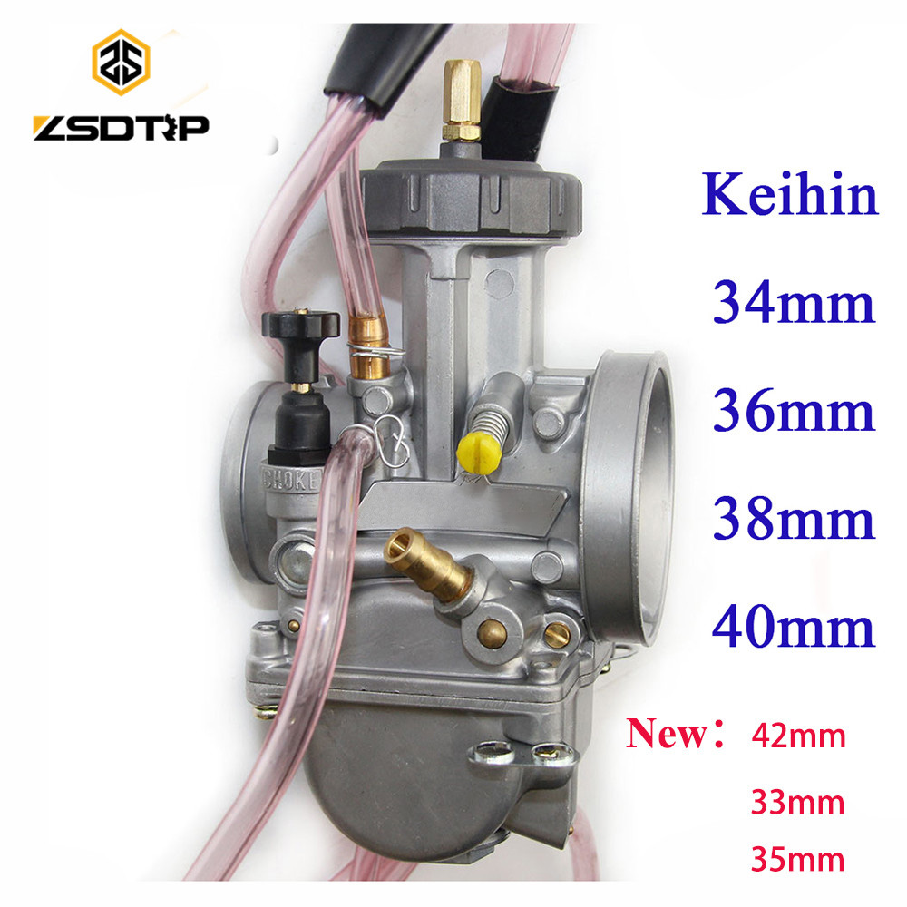 Hohe qualität ZSDTRP 34 36 38 40 42mm pwk keihin vergaser carburador universal 2 t 4 t motor motorrad roller UTV ATV