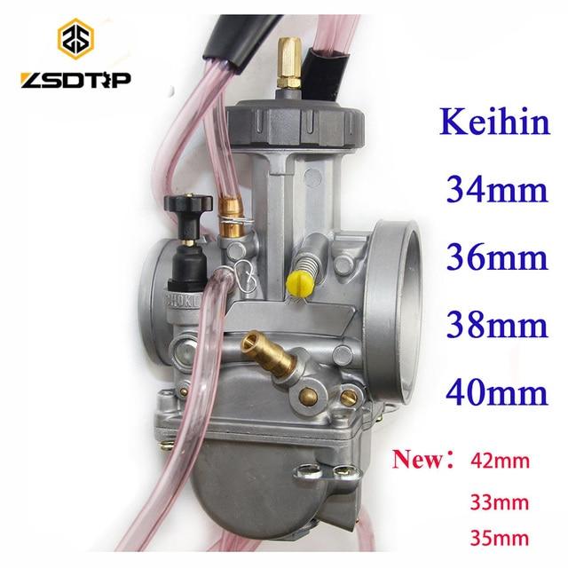 Wysokiej jakości ZSDTRP 34 36 38 40 42mm pwk gaźnik keihin carburador uniwersalny 2 T 4 T silnik motocykla skuter UTV ATV