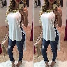 Fashion Summer Women Maxi Shirt Casual Tank Blouse