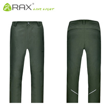 RAX Winter Waterproof Thickened Men's Pants Warm Fleece Windproof Trousers Men Camping Trekking Hiking Outdoor Sports Pants Men