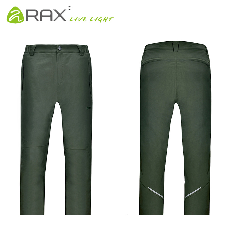 RAX Winter Waterproof Thickened Men's Pants Warm Fleece Windproof Trousers Men Camping Trekking Hiking Outdoor Sports Pants Men koraman men thick winter warm fleece softshell pants fishing camping hiking climbing skiing trousers waterproof windproof 229
