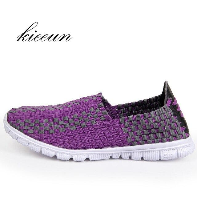3aac9a08485ad Tejer Zapatillas para correr para las mujeres Atlético zapatilla tejido  deporte zapatillas para caminar mujer de