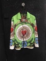 Новинка 2018 Высокое качество модные блузки и рубашки взлетно посадочной полосы Лето мужчина бренд Роскошные Мужская одежда A08354