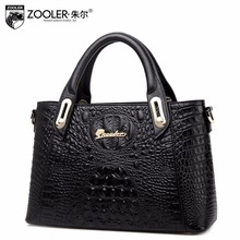 2016 women Genuine Leather Alligator grain handbag fashion brand women bag Luxury Classic Messenger bag high quality tote