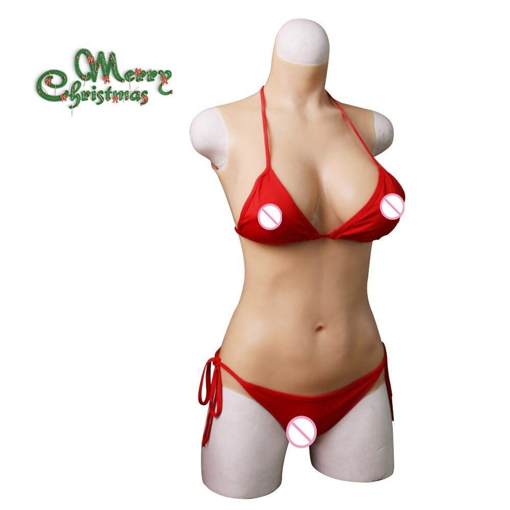 EYUNG E tazza di silicone liquido di riempimento tuta per Crossdresser la penetrazione forma del seno Realistico Della Vagina e figa falsi tette