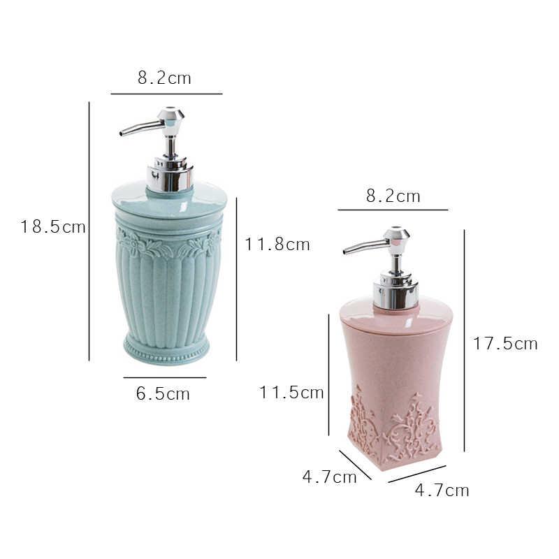 Naciskając rzeźbione z tworzywa sztucznego wielokrotnego napełniania krem pompa dozownika balsamu butelki pojemnik na kosmetyki szampon mydło w płynie żel pod prysznic kuchnia