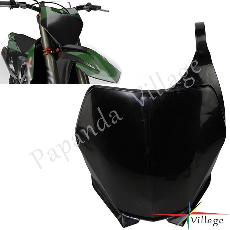 Маска черная для мотоцикла, мотокросса, супермото, эндуро, Пластиковая передняя табличка с номером, обтекатель для YAMAHA YZ125 250 250F 450F WR250F 450F