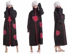 Япония Аниме Наруто Итачи/Акацуки Косплэй Халаты плащ костюмы