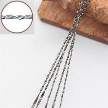 Lames de scie à roulettes, de 130mm, 5 #, dents en spirale, 8 sortes de bois, 12 pièces avec mandrin, livraison gratuite