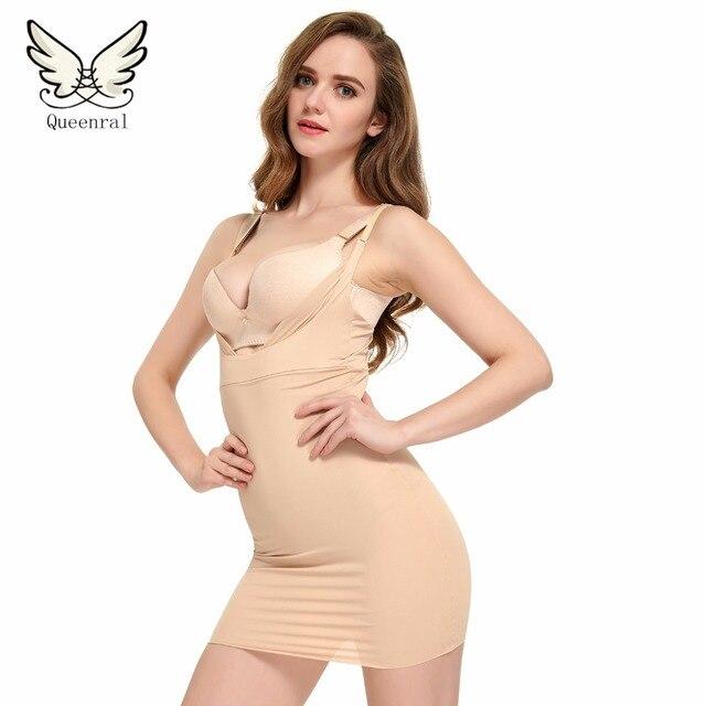 Скользит управления Shaperwear Женщины Sexy Body Shaper Тонкий Грудью Управления Рукавов Ремень Платье Для Похудения Underwear Управления Брюки Корсет боди утягивающее белье пояс для похудения боди для женщин