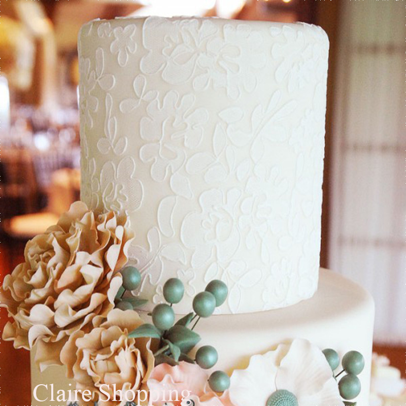 Yueyue Sugarcraft Flori și frunze tort de dantelă tort stencil decorare instrumente tort mucegai tort de decorare CK-S015