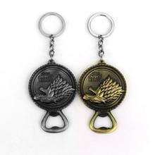 New Game of Thrones Bottle Opener Keychain Bar Tool Soda Beer Bottle Cap Opener Gift House