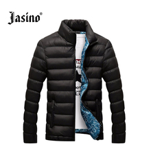 JASINO Brand Men warm casual down jackets men 5xl regular fit cotton black winter basic wind breaker jackets coats down parkas