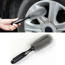 Car Bike Alloy Wheel Cleaning Brush Soft Bristles Cleaner and Grip