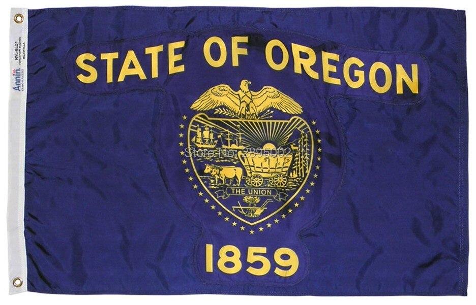 Oregon State Flag Polyester grommets 3 x 5 Banner metal holes Flag