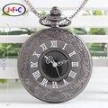 La tendencia de hueco doble display de cuarzo reloj de bolsillo flip Roma DS057 estudiantes retro mesa de regalos Envío libre