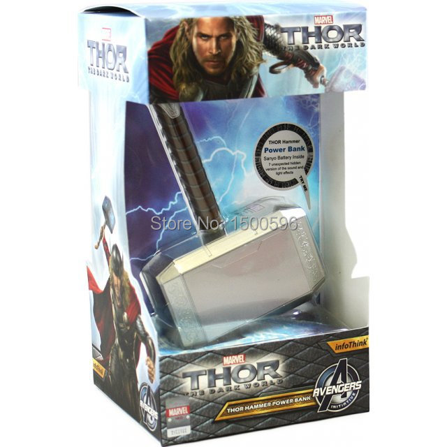 100 original thor hammer 10400mah power bank for smartphone in