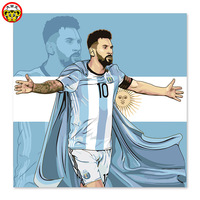 DIY Digital Painting Messi The New Maradona Football Player Striker Football Club Football First
