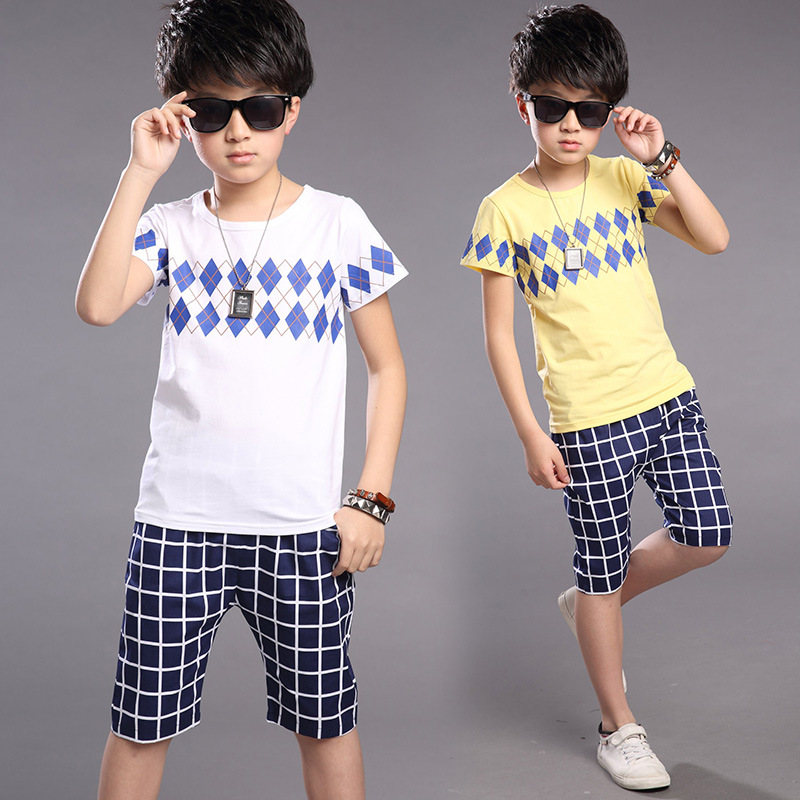 Kids Clothes For Boys Summer Boys Sports Suits Striped ...