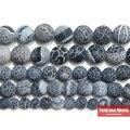 Бесплатная доставка натуральный камень Мороз краб черный Агаты круглые свободные бусины 6 8 10 12 мм выберите размер для ювелирных изделий - фото