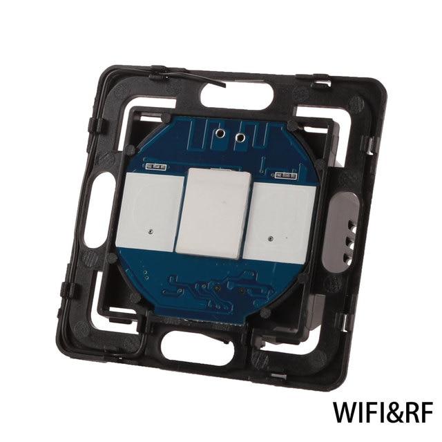 Bingoelec 1 ギャング 1 ウェイ wifi タッチスイッチ部分スマートホームオートメーションワイヤレスリモートセンサー部品携帯電話によって制御