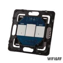 Bingoelec Interruptor táctil WIFI de 1 entrada y 1 vía, automatización inteligente del hogar, Sensor remoto inalámbrico, Control por parte de teléfono móvil