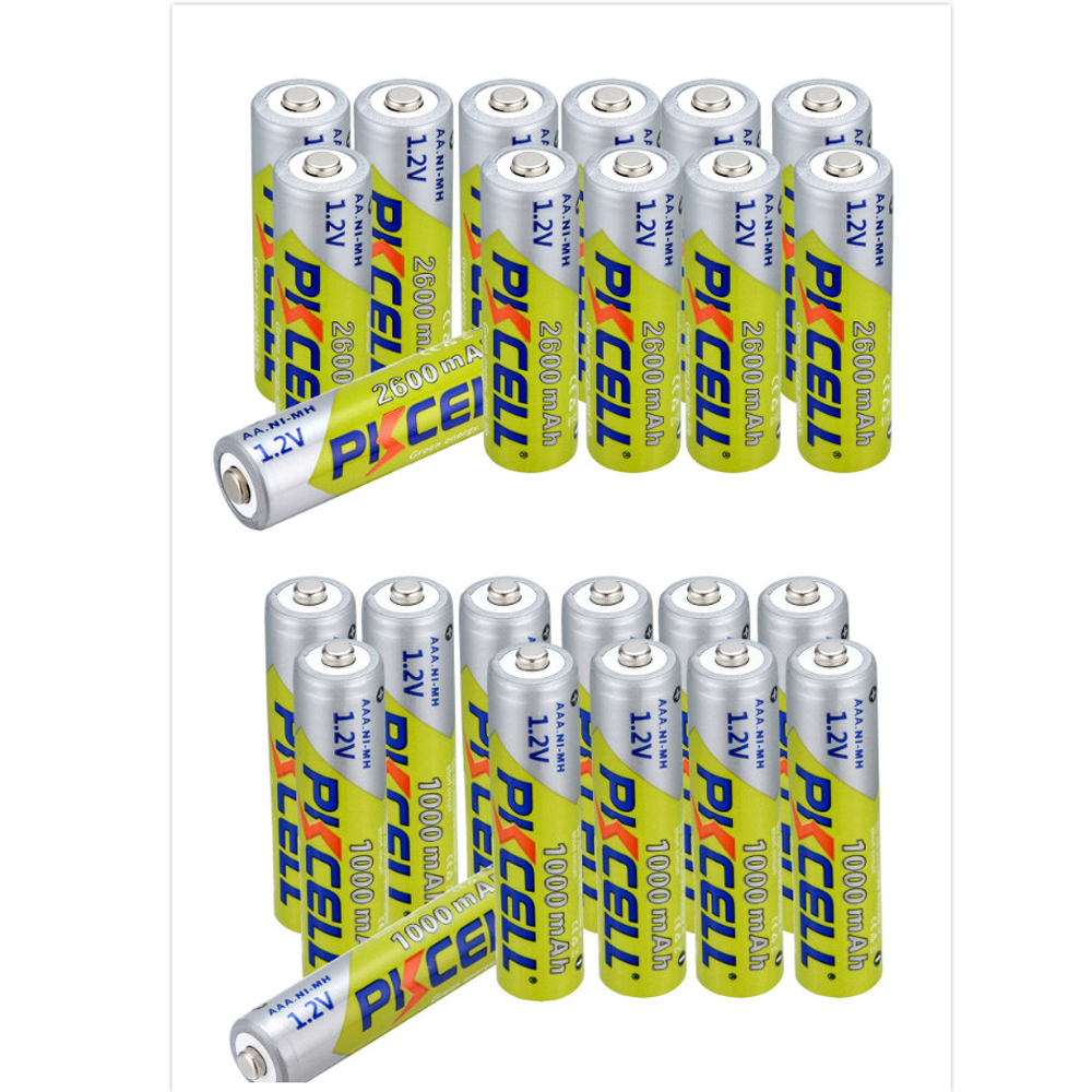 32pcs lot 3A Ni MH AAA Batteries 16pcs 1000mAh 1 2V AAA 16 pcs AA 2600MAH