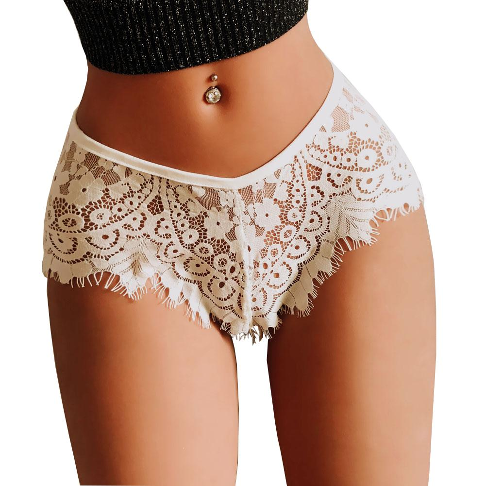Women's Sexy Panties Lady Sex Knickers Ladies Briefs Low Waist Transparent Lace Underwear Erotic Lingerie Costumes Size S M L XL