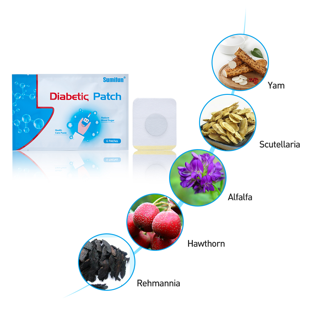 18Pcs=3bags Sumifun New Diabetes Herbal Diabetes Cure Lower Blood Glucose Treatment Diabetic Patch D1268